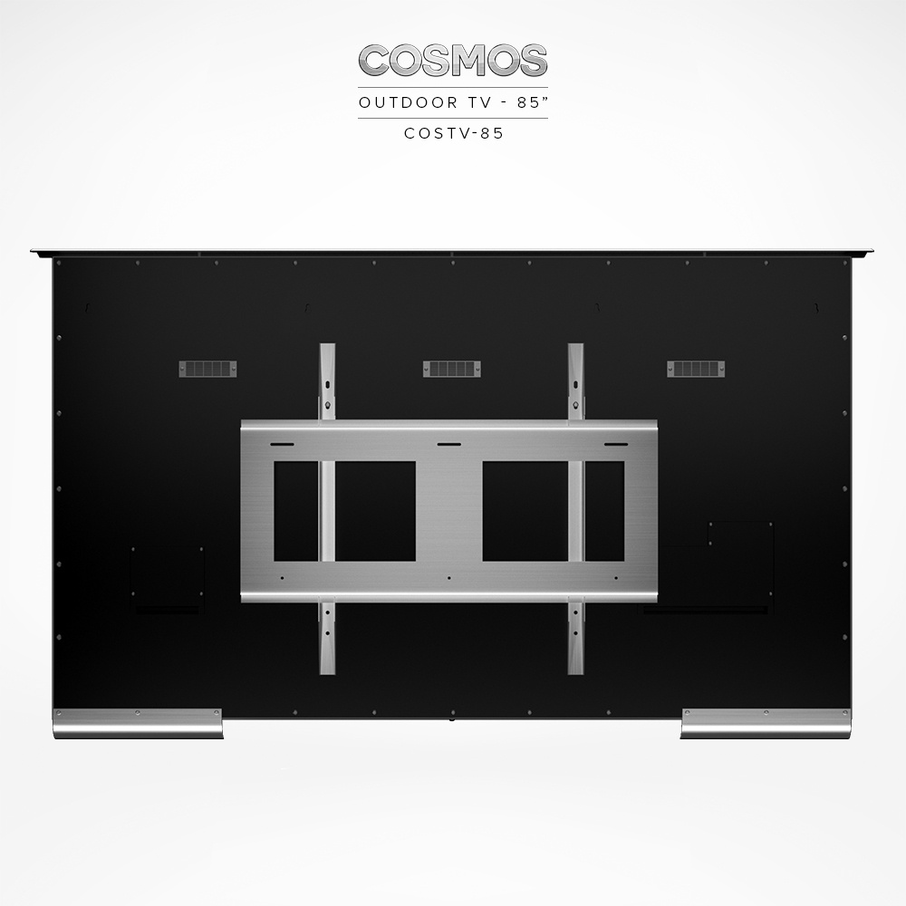 Yes, add the Stainless Steel Wall Mount Bracket COSMT-BR-75/85 (VESA 600 x 400).