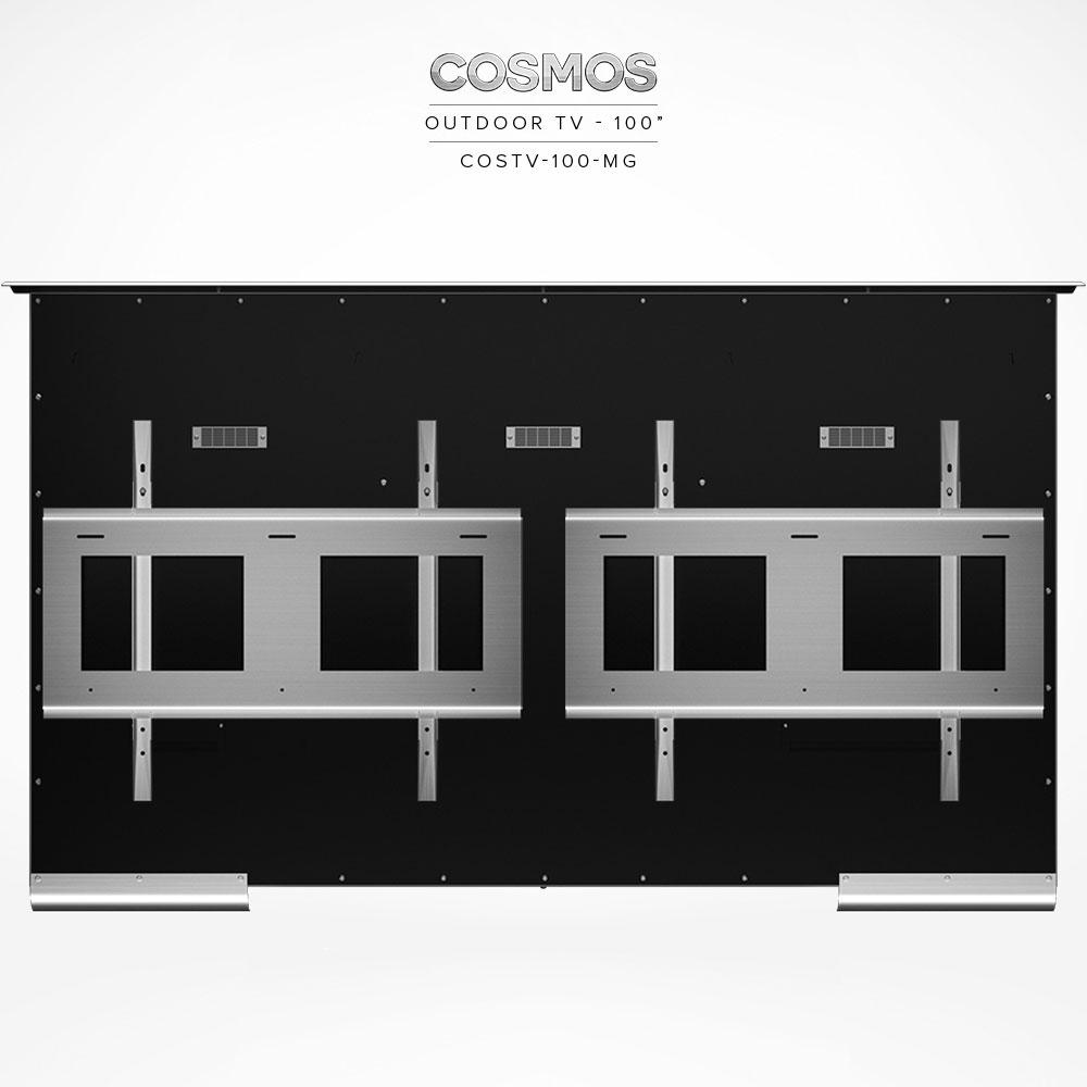 Yes, add 2pcs. Stainless Steel Wall Mount Bracket COSMT-BR-75/85 (VESA 600 x 500)