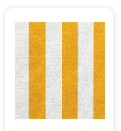 Neoprene Cover – Yellow and White Stripes (COSNC-40-STRYellow)