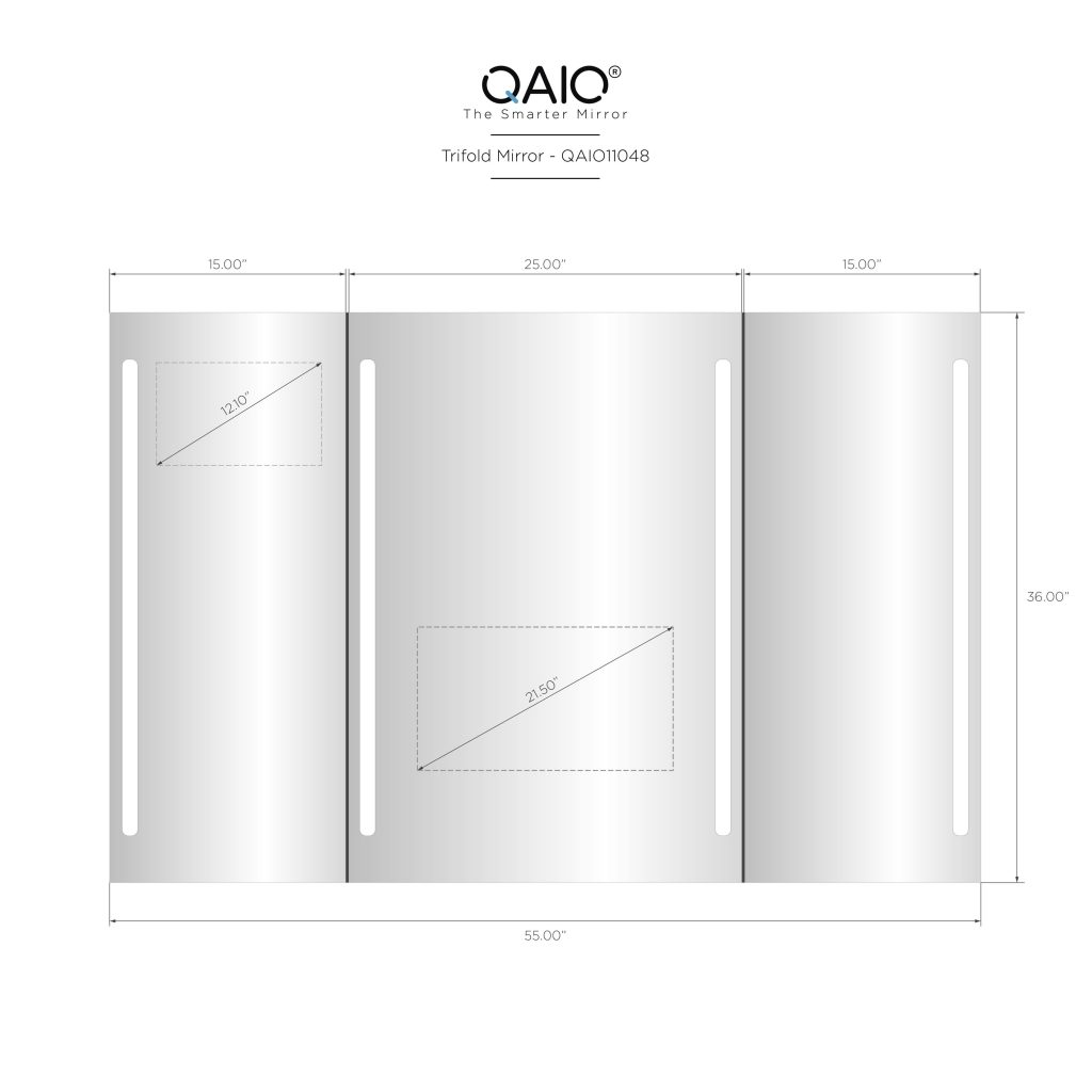 "QAIO Trifold, 55″ wide x 36"" high, with 22"" TV (QAIO11048)"